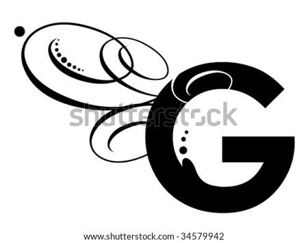 Letter G - Modern Initial - stock vector