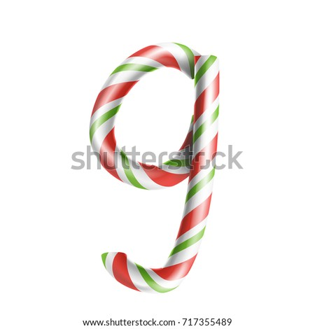 Letter G Vector 3 D Realistic Candy Stock Vector 717355489 ...