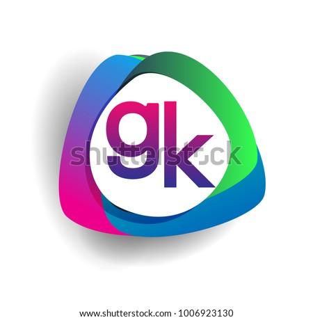 letter gk logo colorful splash background stock vector 1006923130 rh shutterstock com gsk logo gsk logo