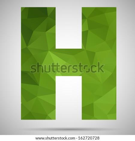 Letter H - stock vector