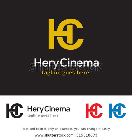 Letter H C Logo Template Design Stock Photo (Photo, Vector ...