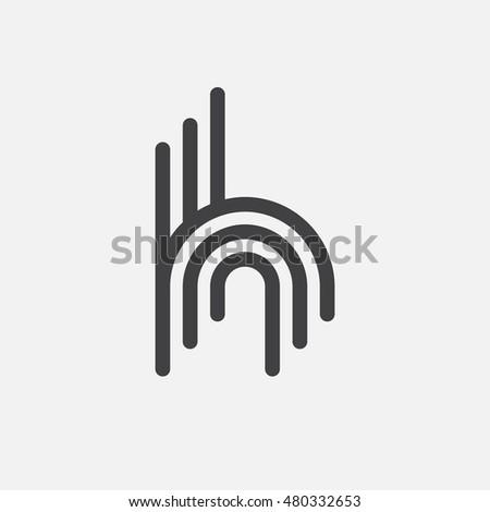 creative letter h