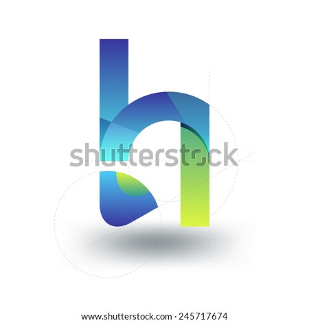 letter H logo template. Abstract icon. - stock vector