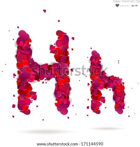 H Letter In Love Letter h Love Photos i...