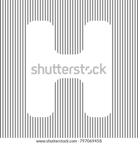 Letter h button stock images royalty free images vectors letter h sign design template element vector white icon on grayish striped background pronofoot35fo Gallery
