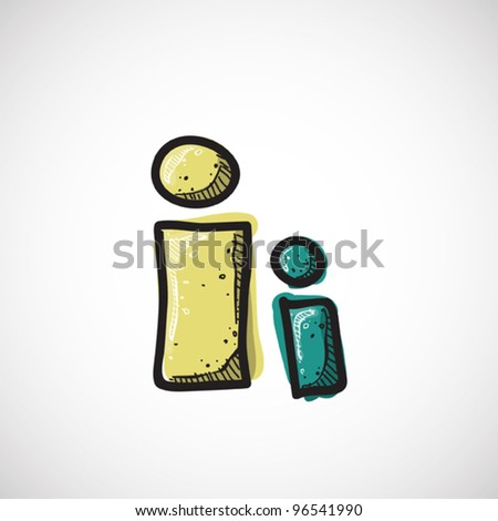 Letter I from candy alphabet. Vector illustration - stock vector