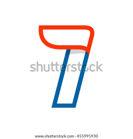 Letter I logo with red wing. Sport elements for sportswear, t-shirt, banner, card, labels or posters. - stock vector
