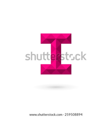 Letter I number 1 mosaic logo icon design template elements  - stock vector