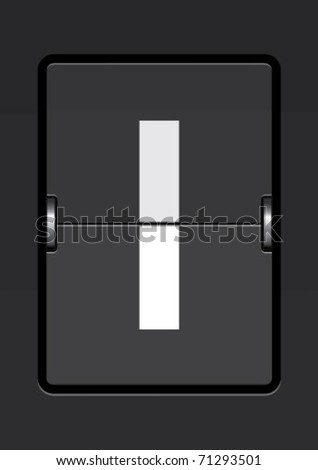 letter i  on a mechanical timetable - stock vector