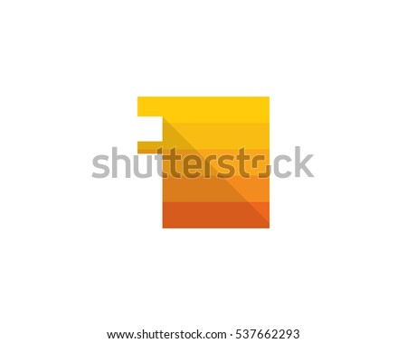 Letter I Square Shadow Logo Design Template Element