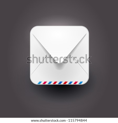 Letter icon - stock vector