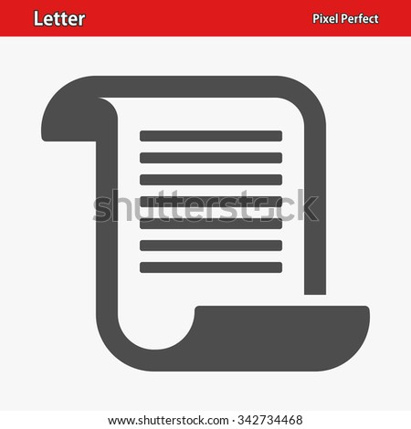 Letter Icon. Professional, pixel perfect icons optimized for both large and small resolutions. EPS 8 format. - stock vector