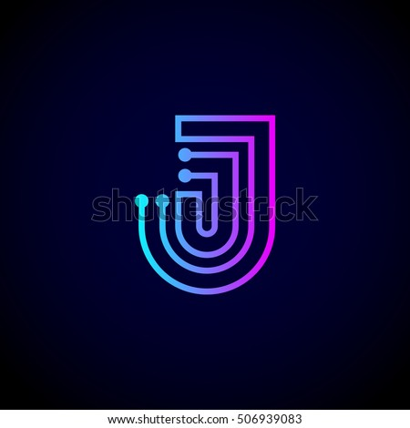 D Letter J Template on cut out, printable box,