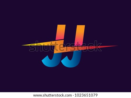 Letter JJ Logo With Lightning Icon Combination Power Energy Design For Creative