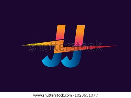 Letter JJ Logo With Lightning Icon Combination Power Energy Design For Creative