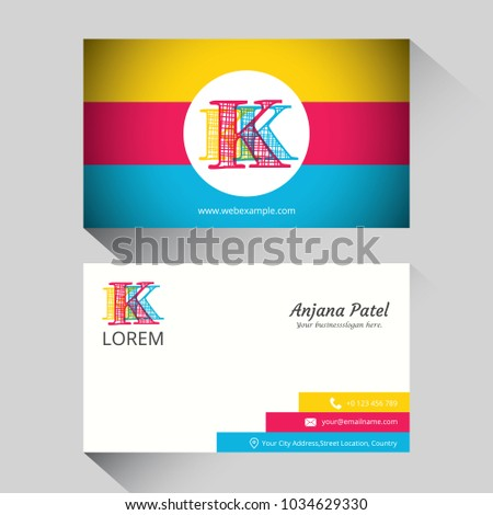 Letter k logo corporate business card stock vector hd royalty free letter k logo corporate business card thecheapjerseys Gallery