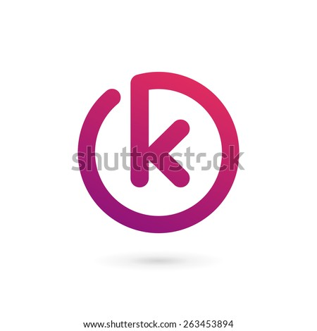 K Logo Images Letter K logo icon design template elements - stock vector