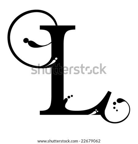 Letter L - stock vector