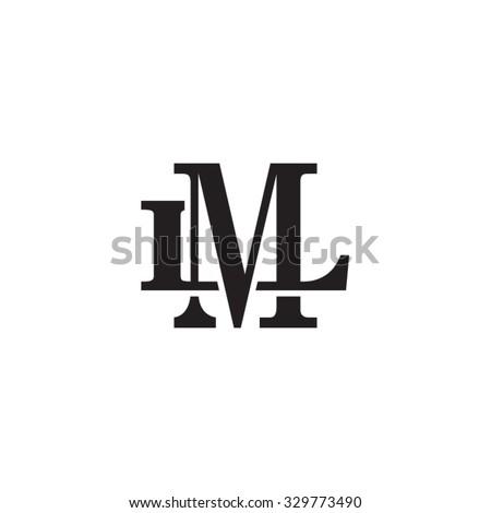 letter l m monogram logo stock vector 329773490 shutterstock