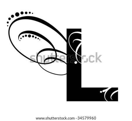 Letter L - Modern Initial - stock vector