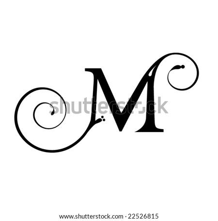 Letter M - stock vector