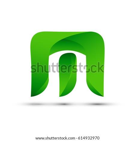 M Logo In Green Images Stock Photos amp Vectors  Shutterstock