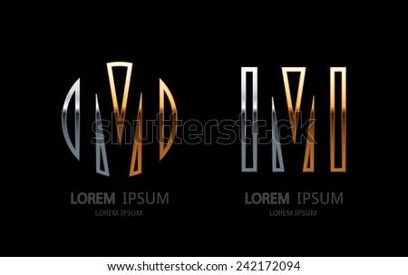 Letter M logo. Alphabet logotype vector design. - stock vector