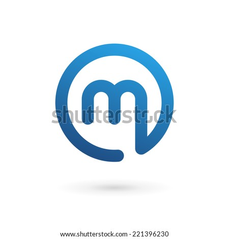 Letter M logo icon design template elements - stock vector