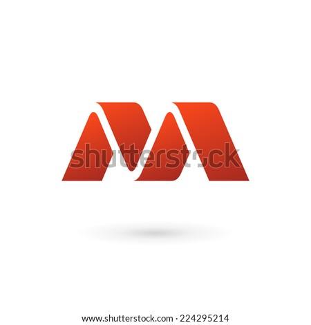 Letter m Logo Red Letter m Logo Icon Design