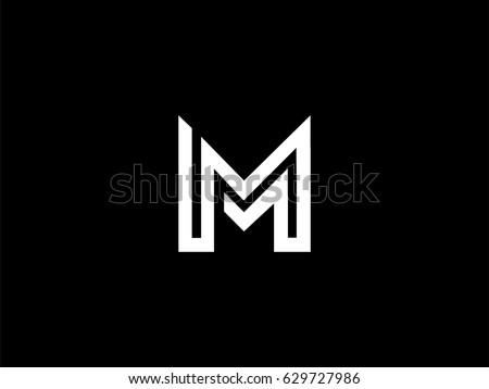 letter m logo mm initials two 629727986 shutterstock. Black Bedroom Furniture Sets. Home Design Ideas