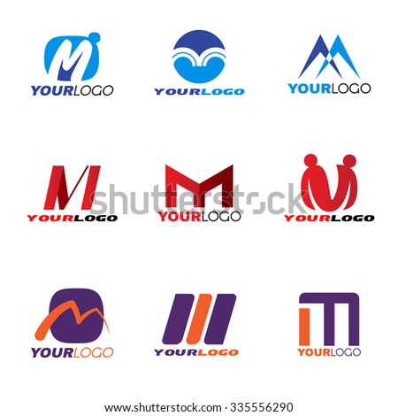 Letter M logo vector set design