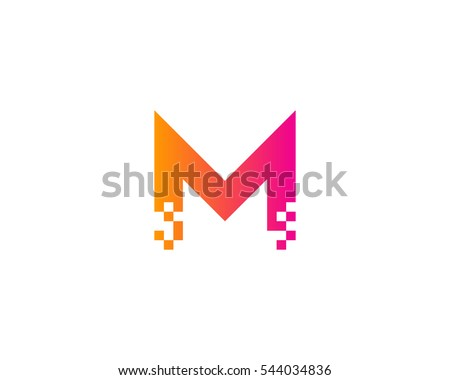 letter m logo royalty free stock photos image 22214578 letter m pixel logo design template stock vector 544034836 623