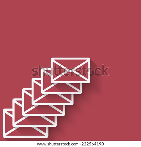 letter mail symbol - vector illustration. eps 10