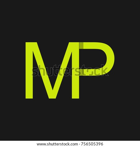 Letter mp logo design template stock vector 756505396 shutterstock letter mp logo design template spiritdancerdesigns Images