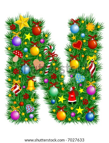 Christmas letter n decoration stock photos images for Letter n decorations