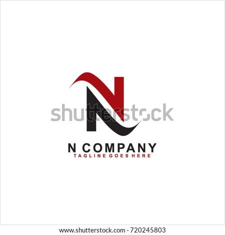 Letter N Logo Design Vector Stock Vector (Royalty Free ...