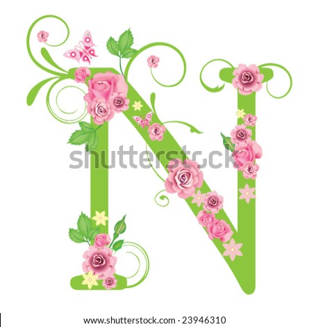 Decorative Letters N  ClipArt ETC