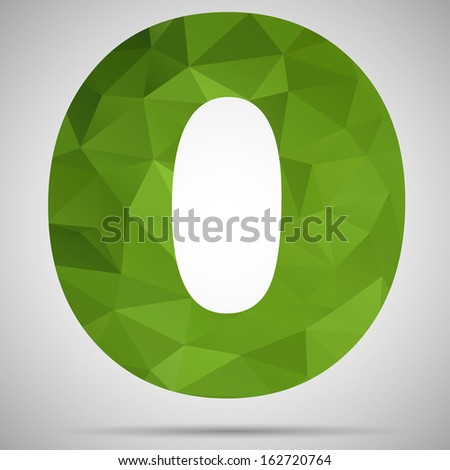 Letter O - stock vector