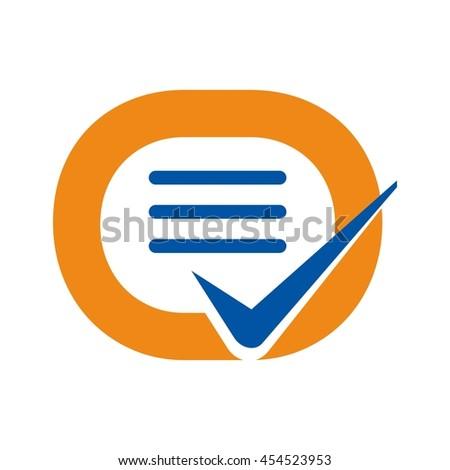 Letter O List Check Mark Symbol Stock Photo Photo Vector