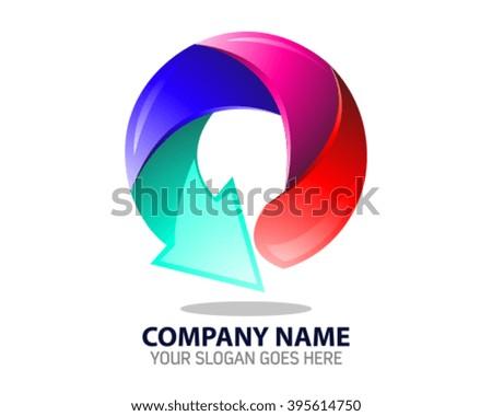 Letter O Education Logo Icon Template - stock vector