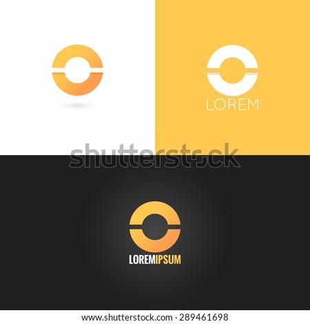 letter O logo design icon set background - stock vector