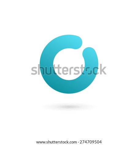 Letter O number 0 logo icon design template elements - stock vector