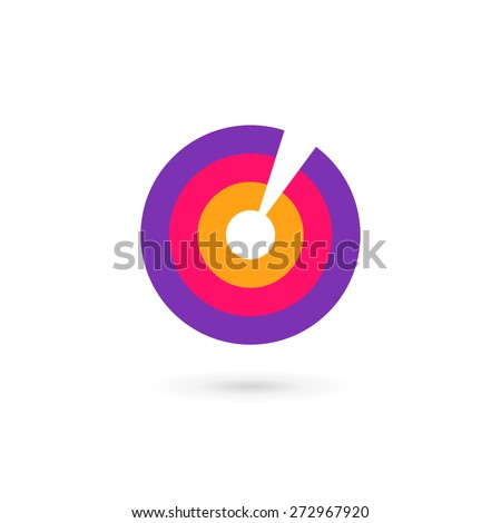 Letter O number 0 target logo icon design template elements