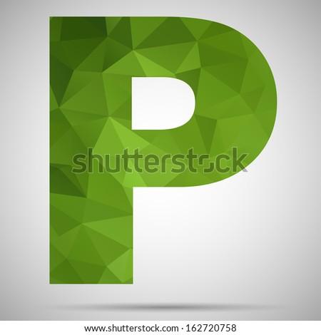 Letter P - stock vector