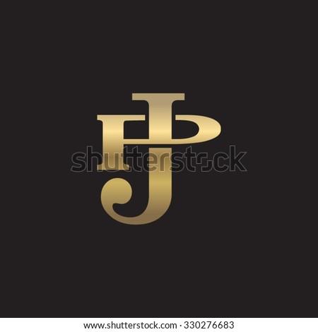 Letter P J Monogram Logo Stock Vector 330276683 Shutterstock