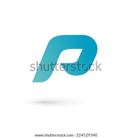 Letter P logo icon design template elements  - stock vector