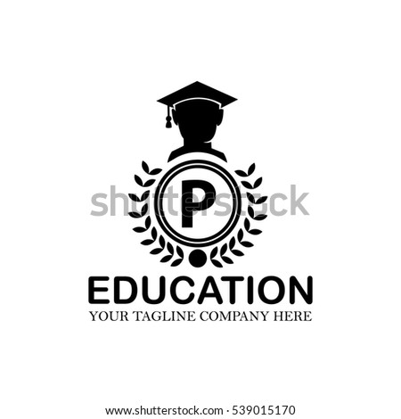 Letter P Logo Vector Education Gown Stock Photo Photo Vector