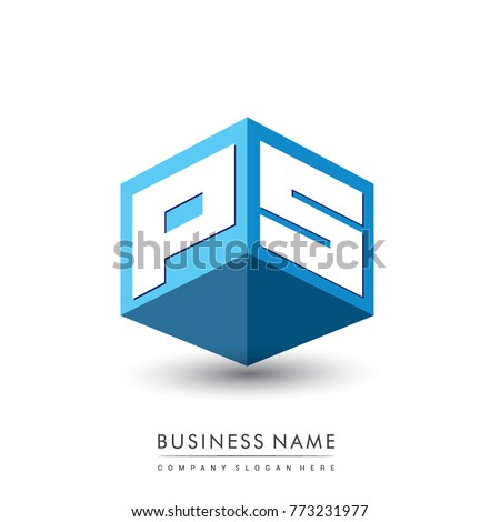 Letter ps stock images royalty free images vectors shutterstock letter ps logo in hexagon shape and blue background cube logo with letter design for thecheapjerseys Images