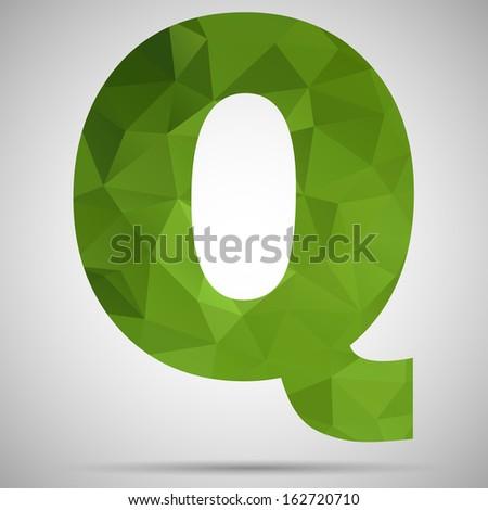 Letter Q - stock vector