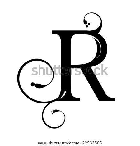 Letter R - stock vector